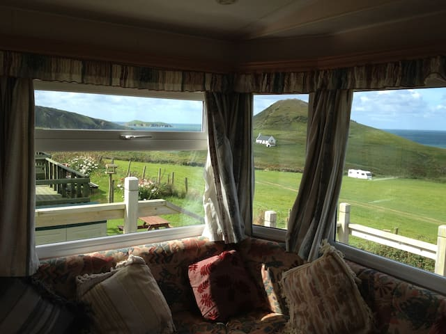 Static caravan with stunning views