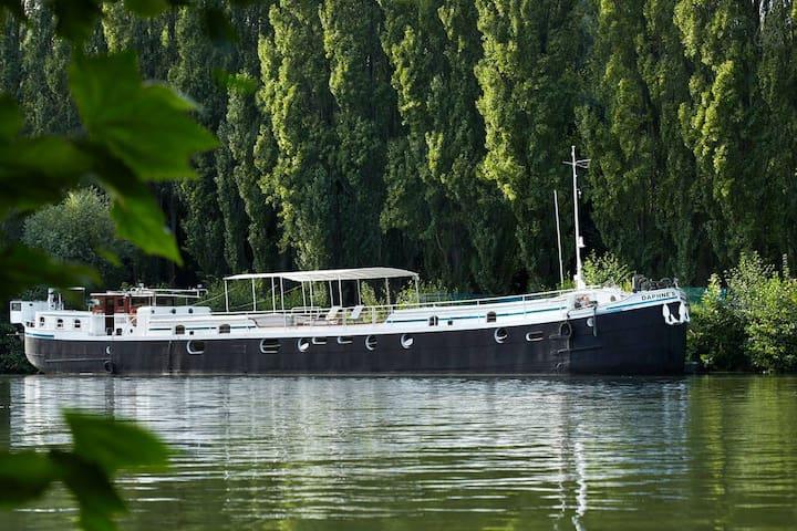 chambre dans péniche-hôtel - Auvers-sur-Oise - Boat