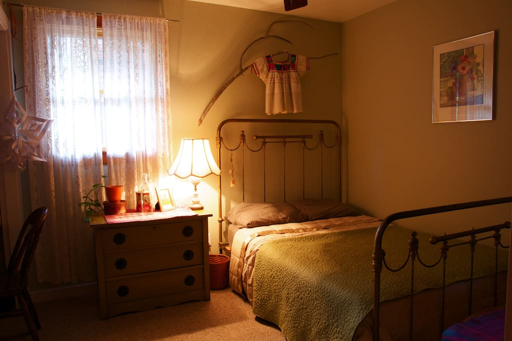 Your charming bedroom with antique furnishing.
