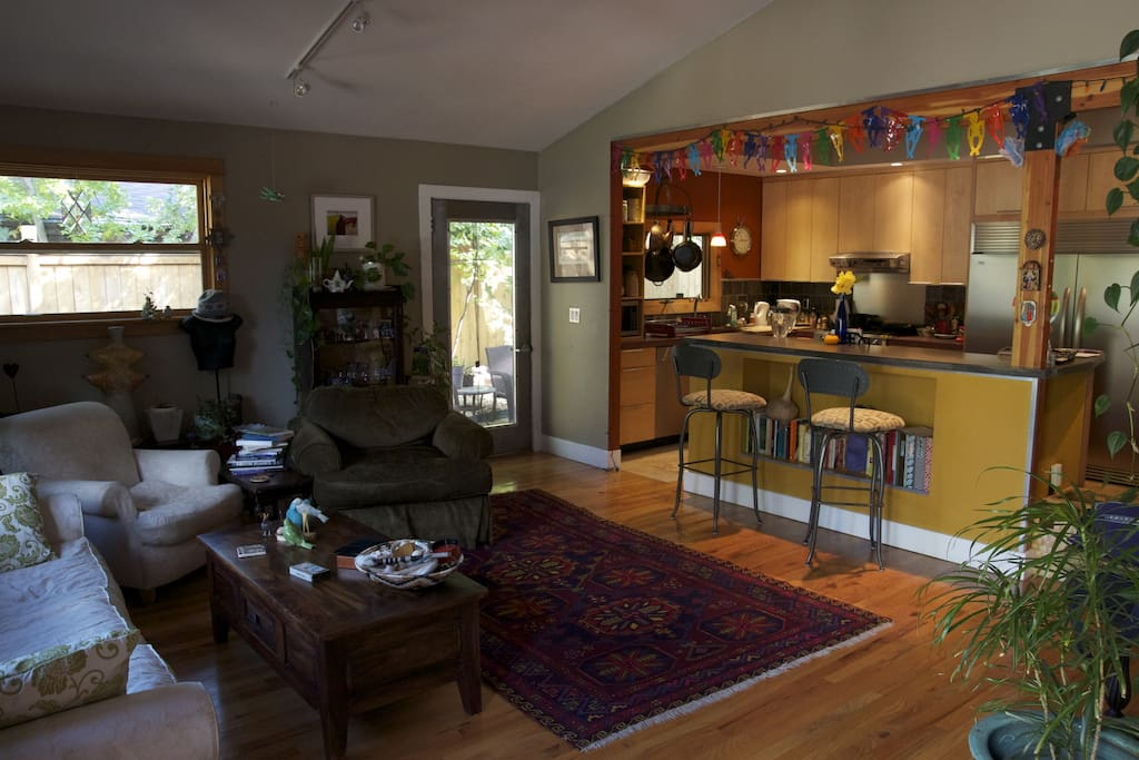 Front room with open kitchen. Great place for hangin' out.