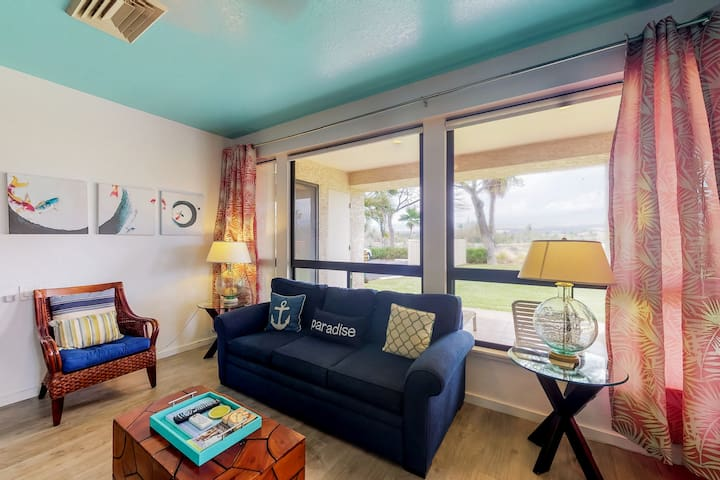 Large ground floor condo w/ a shared pool, hot tub, fitness room, & tennis