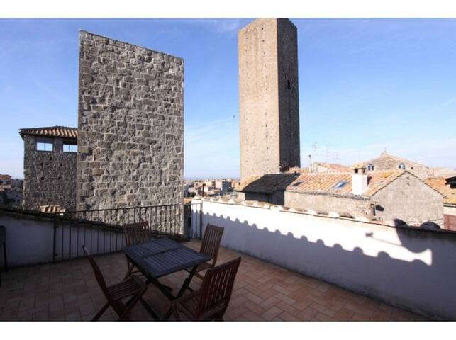 Large apartment with great terrace - Viterbo - Pis