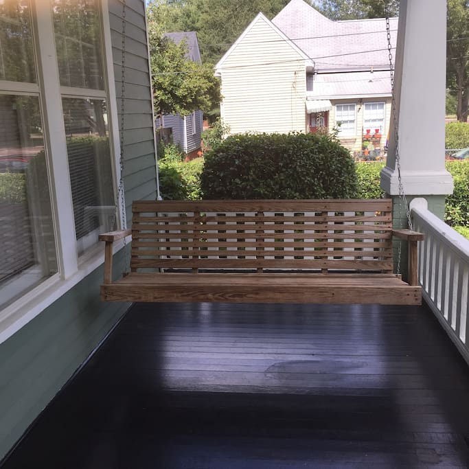 porch swing for morning coffee or afternoon drinks