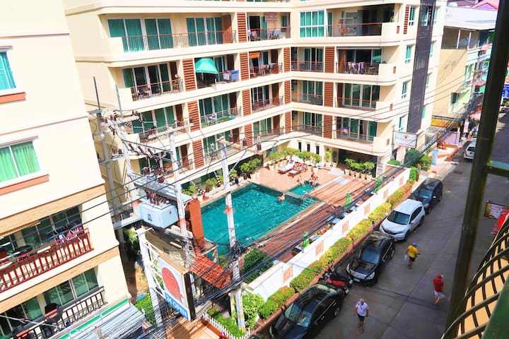 Penthouse - Central location - 200 meter to beach! - Muang Pattaya - เซอร์วิสอพาร์ทเมนท์