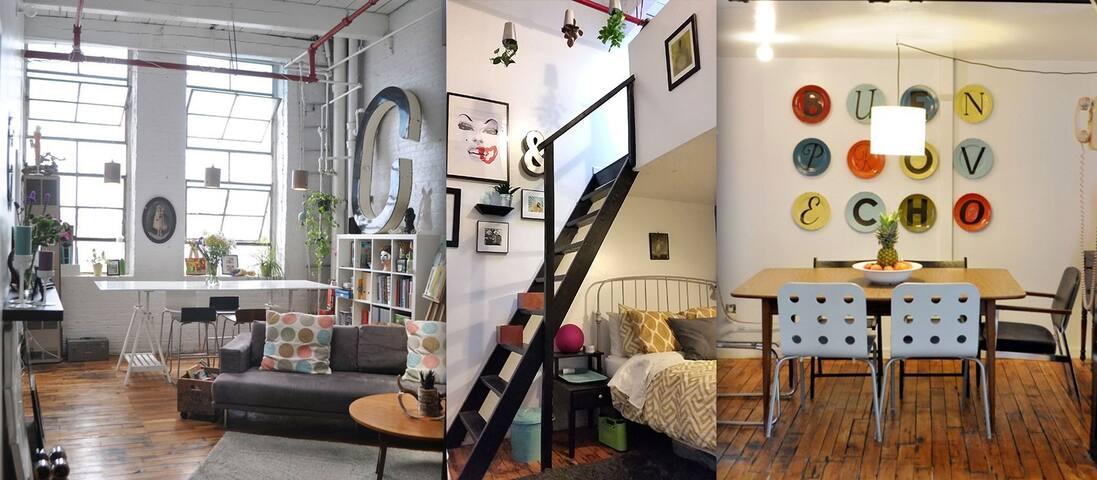 Bedroom in Designer Loft - Brooklyn - Loft
