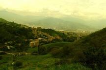 Vista panoramica a Municipios cercanos del sur del Valle