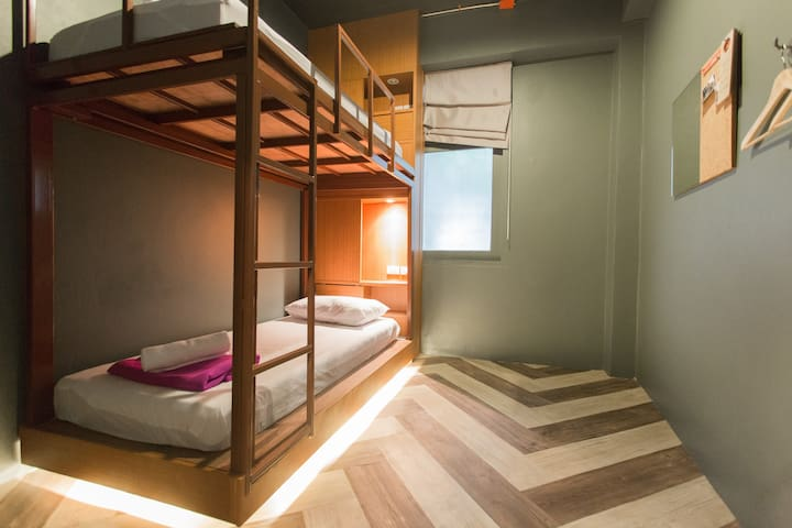 Loftel 22 Hostel : Private Twin Room - BKK