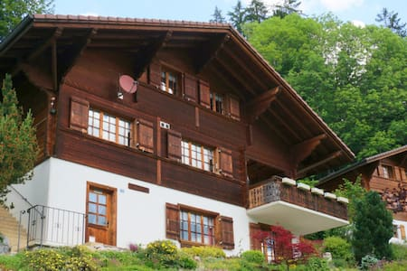 Typical Swiss Chalet - Jaun - Casa