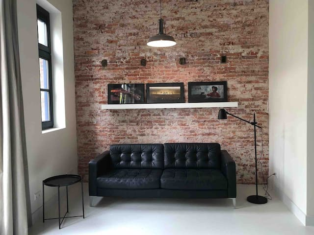 Industrial apartment in a former bakery