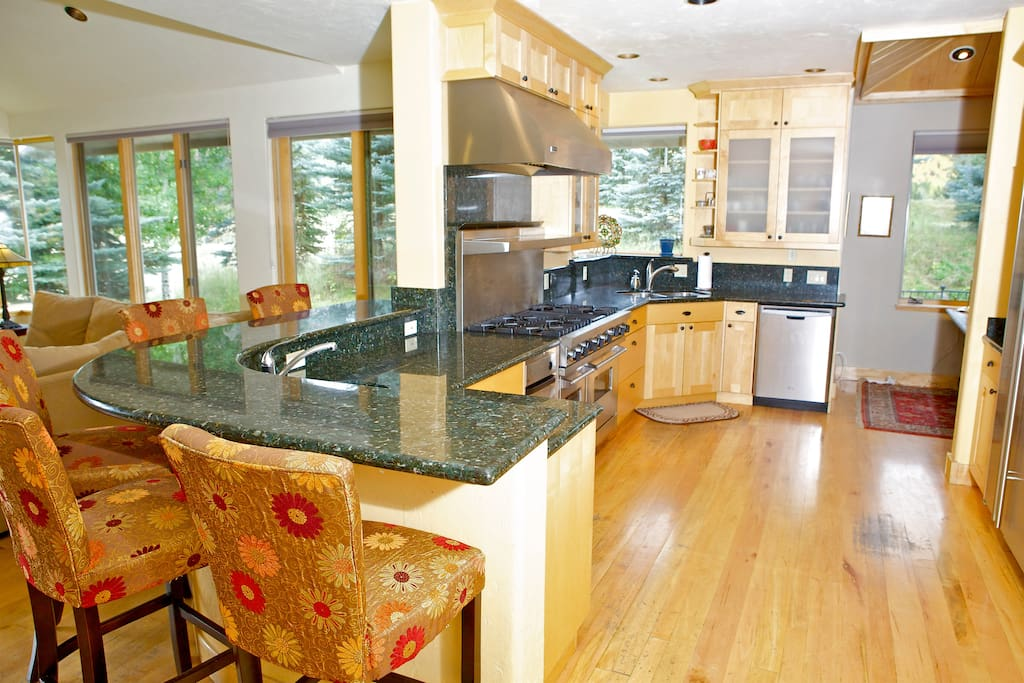 Large kitchen, high end appliances