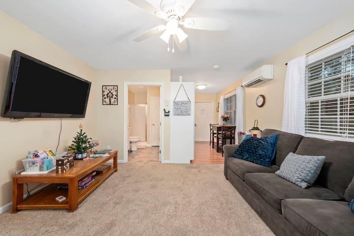 Living Room, Bathroom, Kitchen