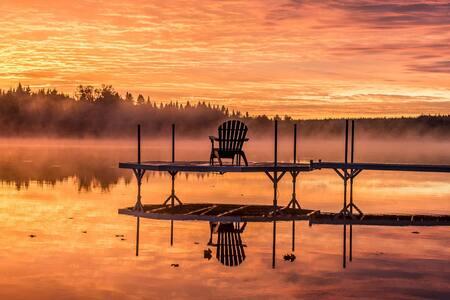 Chalet des Aurores = repos au lac