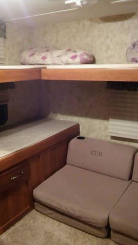 Cub area - 3 bunks 2 floor beds
