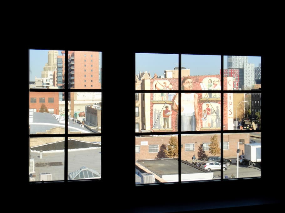 Factory Windows With Various Views At Brooklyn