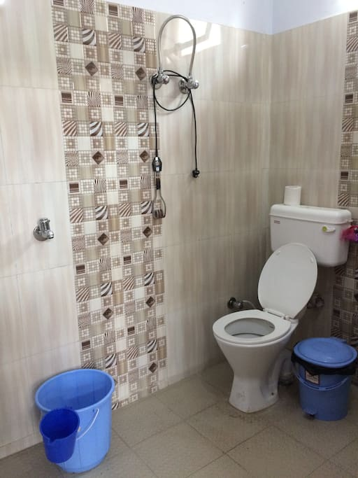 toilet with water heater rod