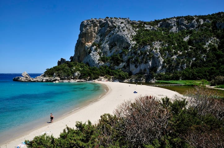 Baunei. Cala Luna, beach reachable by boat or trekking