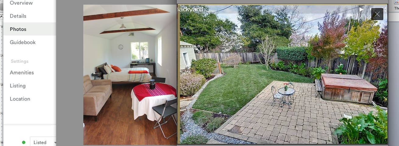 Private Cottage in Lovely Backyard - San Carlos - Apartamento