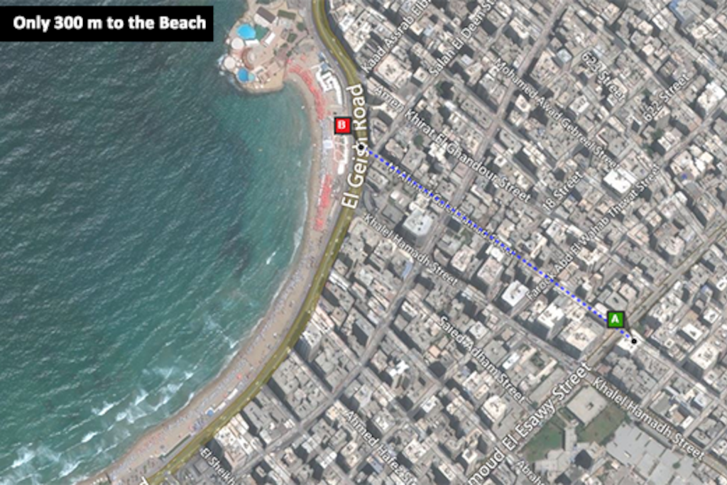 Walk for 2-3 minutes to enjoy the beach!!!