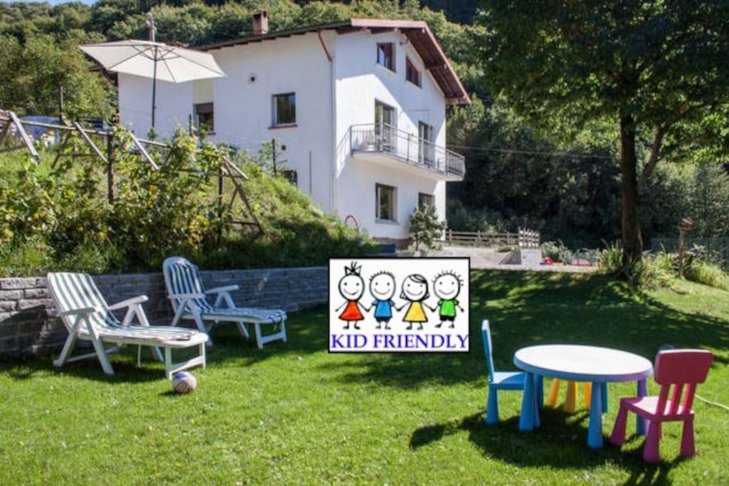 Kid friendly house with garden and playground!