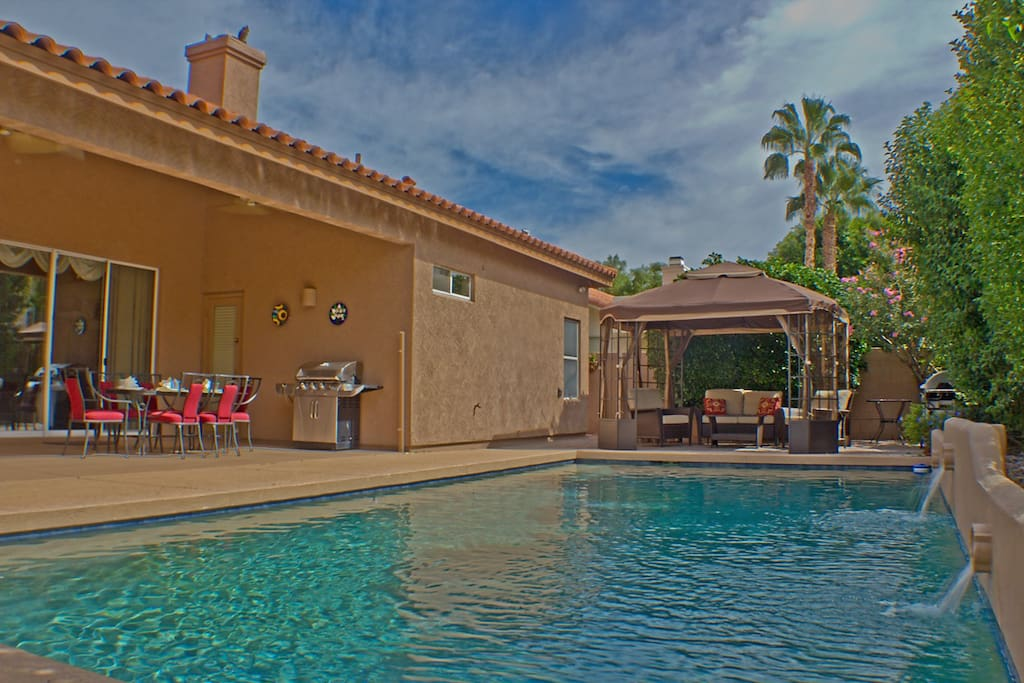 Pool, gazebo with barbeque and patio seating for your enjoyment!