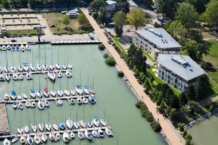 Balaton, Harbour-kikötő, panoráma - Balatonszemes - Lägenhet
