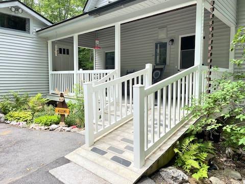 3-story House on Maine Lake w Dock & Fireplace