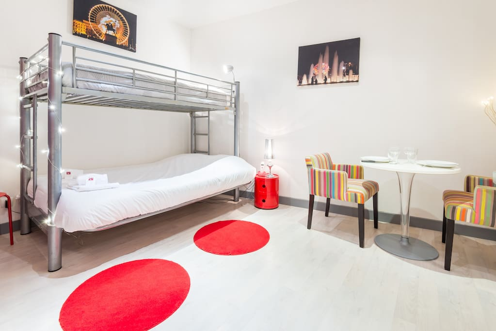 lit double et lit simple superposé