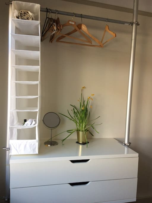 Hanging space, drawers and storage hanger