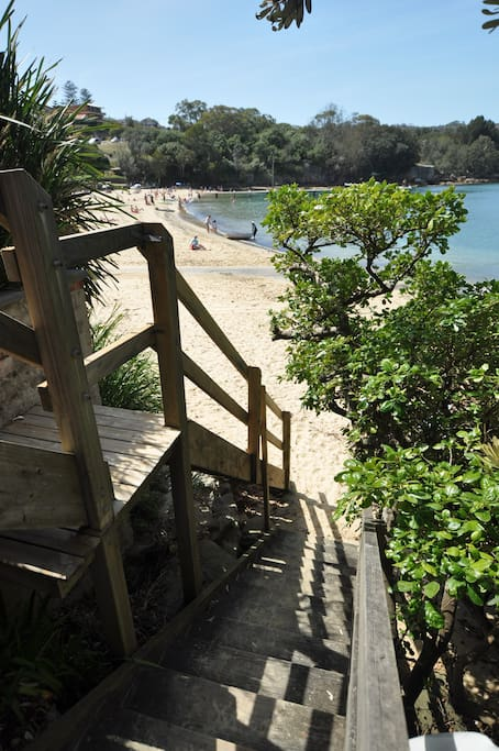 Direct resident access steps to Little Manly Beach