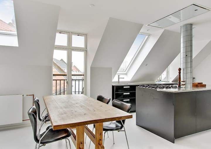 New rooftop apartment in the heart of Copenhagen