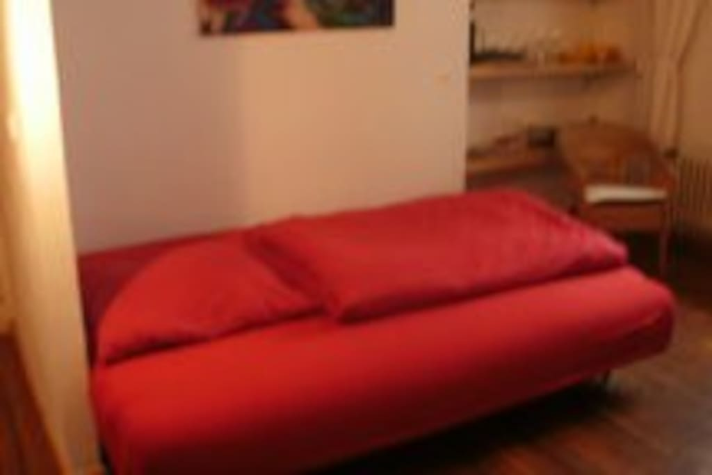Living and sleeping area/Wohn- und Schlafbereich
