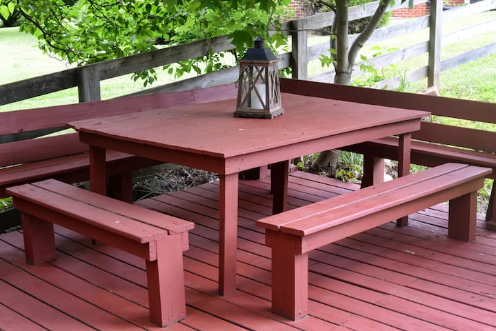 Table with Benches on the Lower Deck