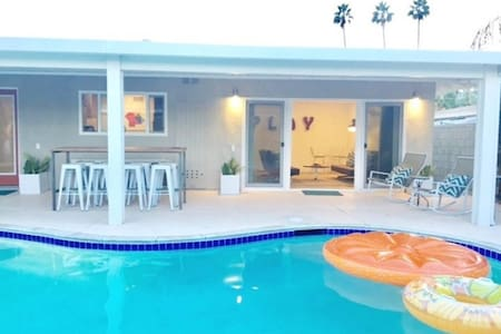 Trendy Mid-Century Home with Pool & Central to All