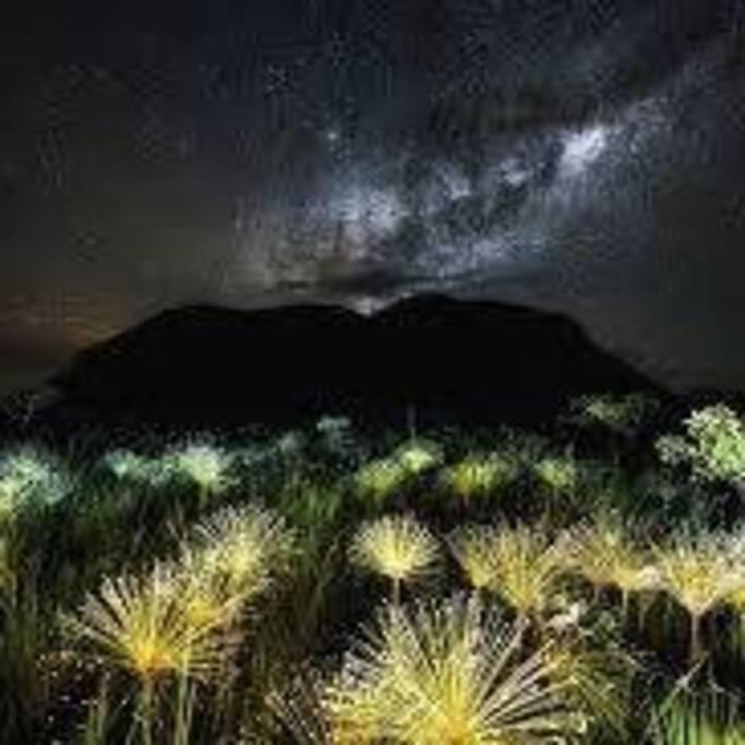 vista noturna da Chapada