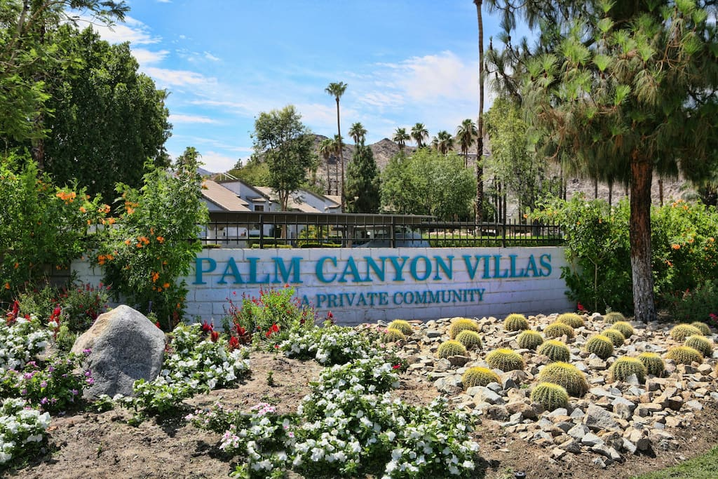 Palm Canyon Villas Welcomes you to Your Condo Swimming Pools Tennis  & Golf