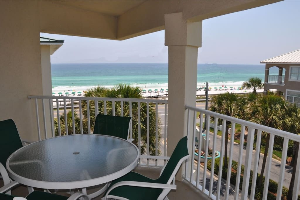 Relax and Enjoy the Oversized Balcony with Spectacular Beachfront View.