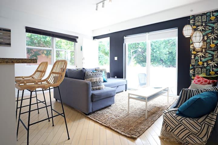 Tropical Tiki Paradise w/Parking & Balcony | 1 Bedroom 1 Bathroom Apartment