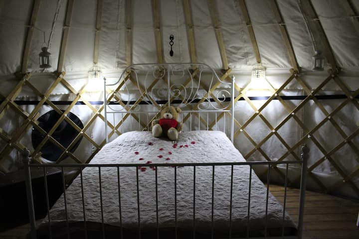 Romantic Honeymoon Yurt at Cledan Valley