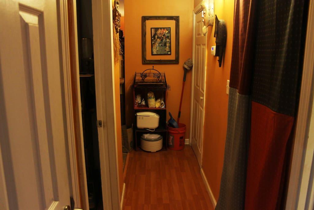 Hallway to Kitchen.