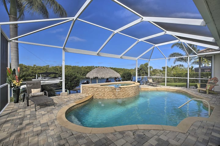 Waterfront Cape Coral Home w/ Private Dock & Lanai