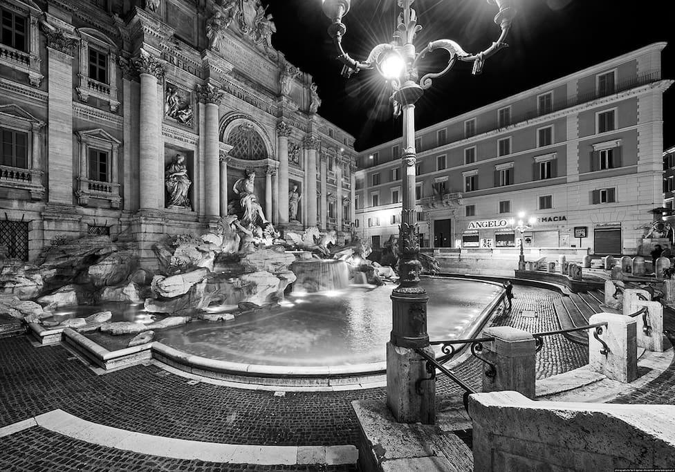 next door Trevi Fountain
