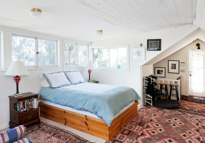 Master bedroom with plenty of space and natural light.
