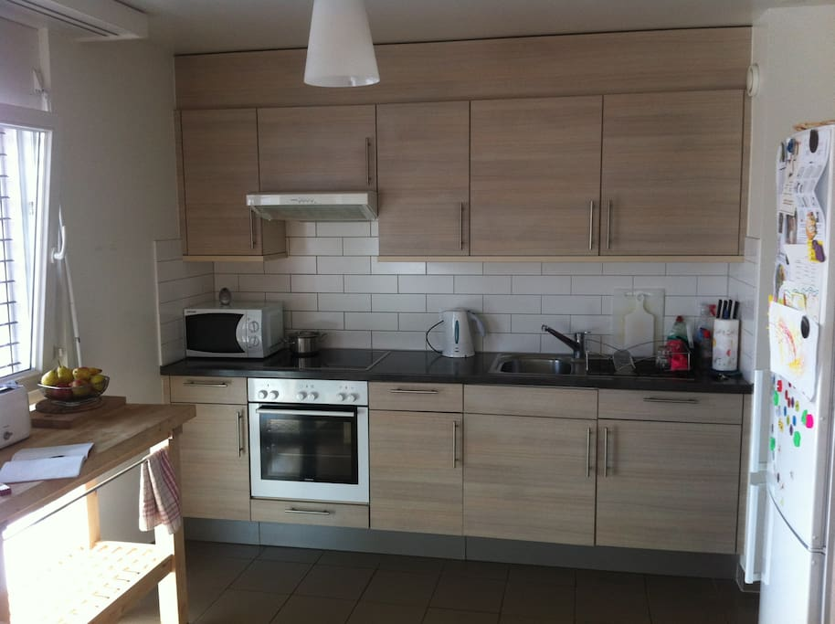 Open plan kitchen, fully equiped