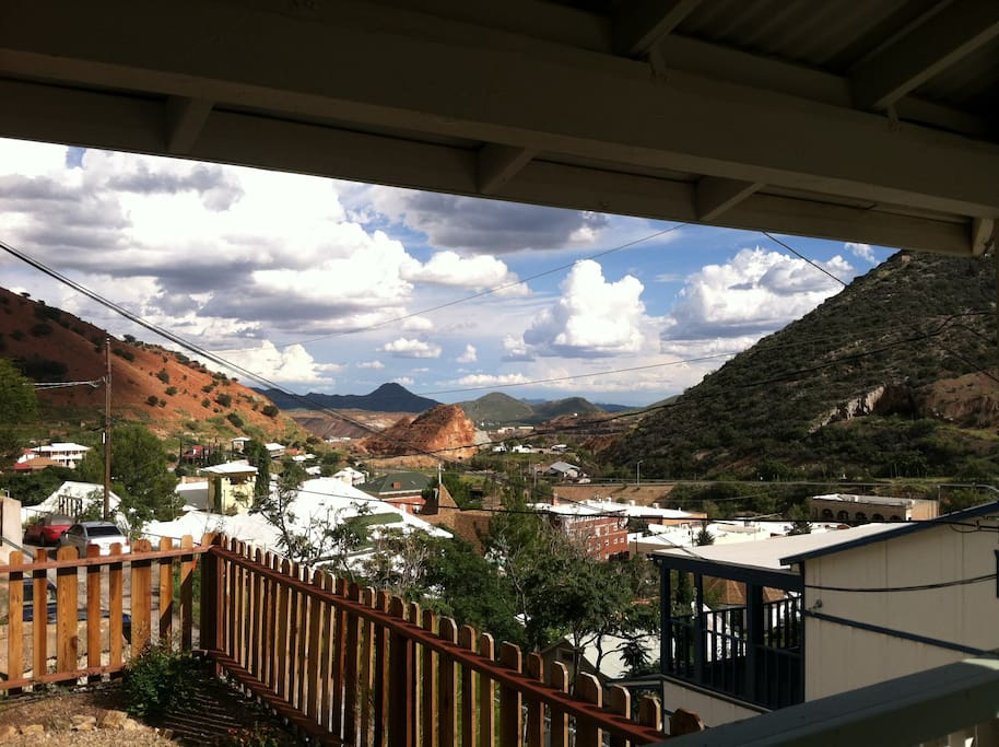 The gorgeous Bisbee sky from the porch.