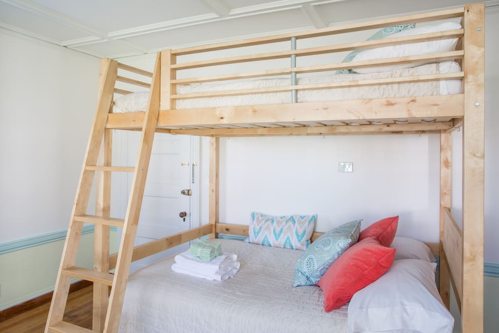 2 Full-size Beds with Ikea Loft