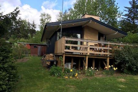 Hyggeligt 70'er sommerhus - Fårevejle - Blockhütte