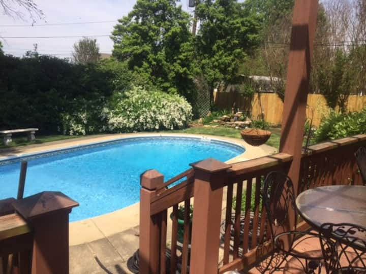 Gracious Home with Pool for our guests to enjoy.