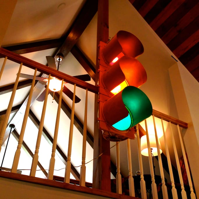 Stop lights from the loft.
