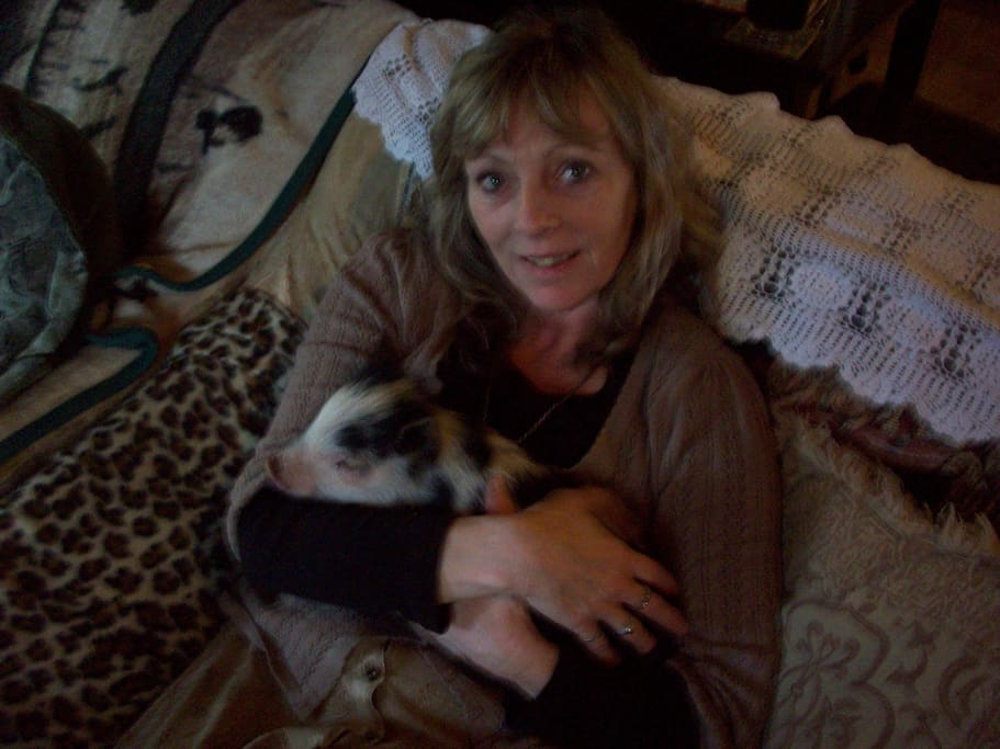 this is me and my pig when he was a baby