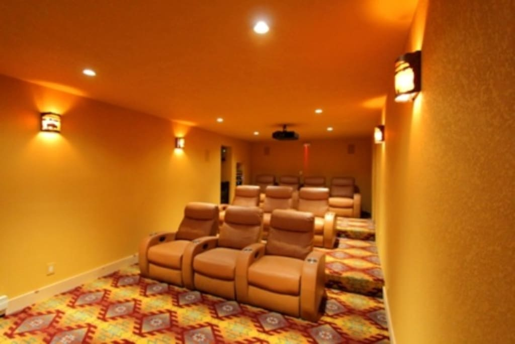 Home Theater room showing seating for 10 guests